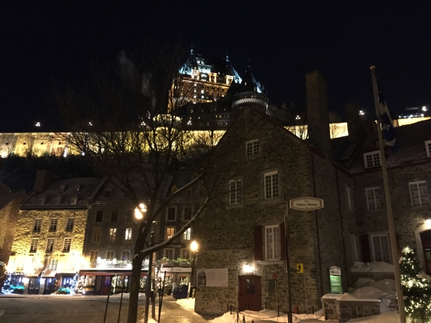 View of the Chateau Frontenac from the lower city - Day 2