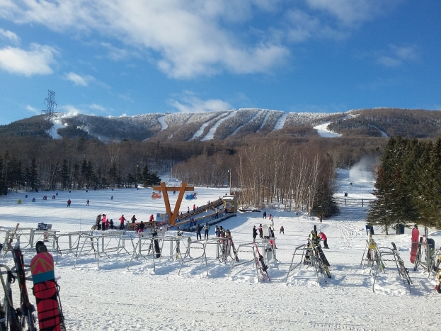 A View from the Base Lodge at Mount Saint Anne - Day 2