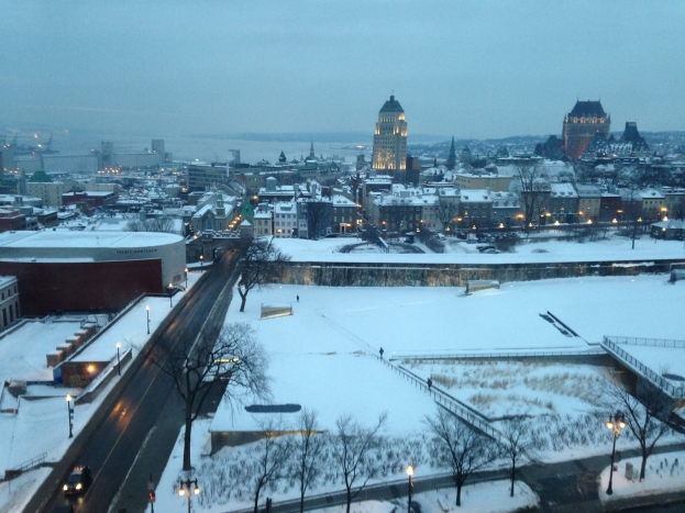 A view of the Chateau Frontenac from the Hilton - Day 1
