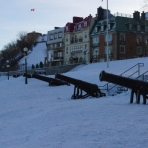 There are lots of old cannons in Quebec City - Day 1